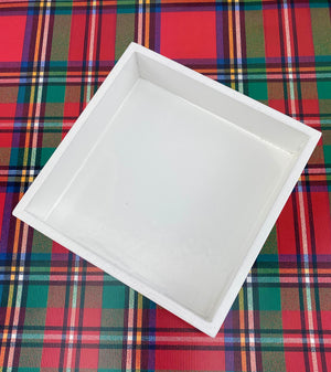 White Lacquer Cocktail Napkin Holder - The Preppy Bunny