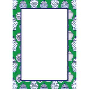 Ginger Jar Pattern Notepad 5 x 7 - The Preppy Bunny