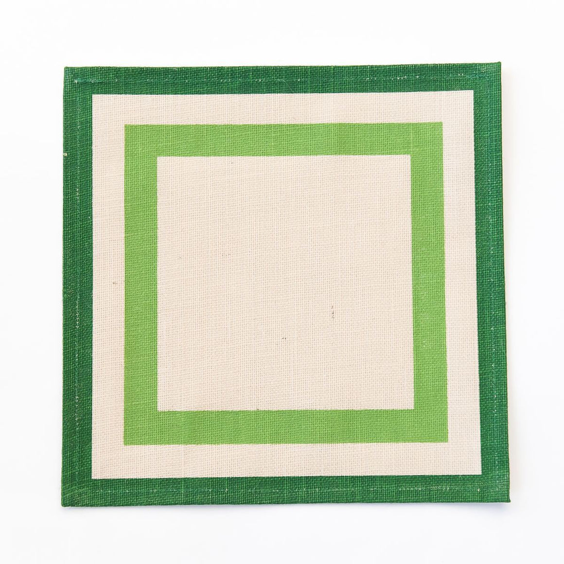 Green Stripe Jute Placemats Set of 4 - The Preppy Bunny