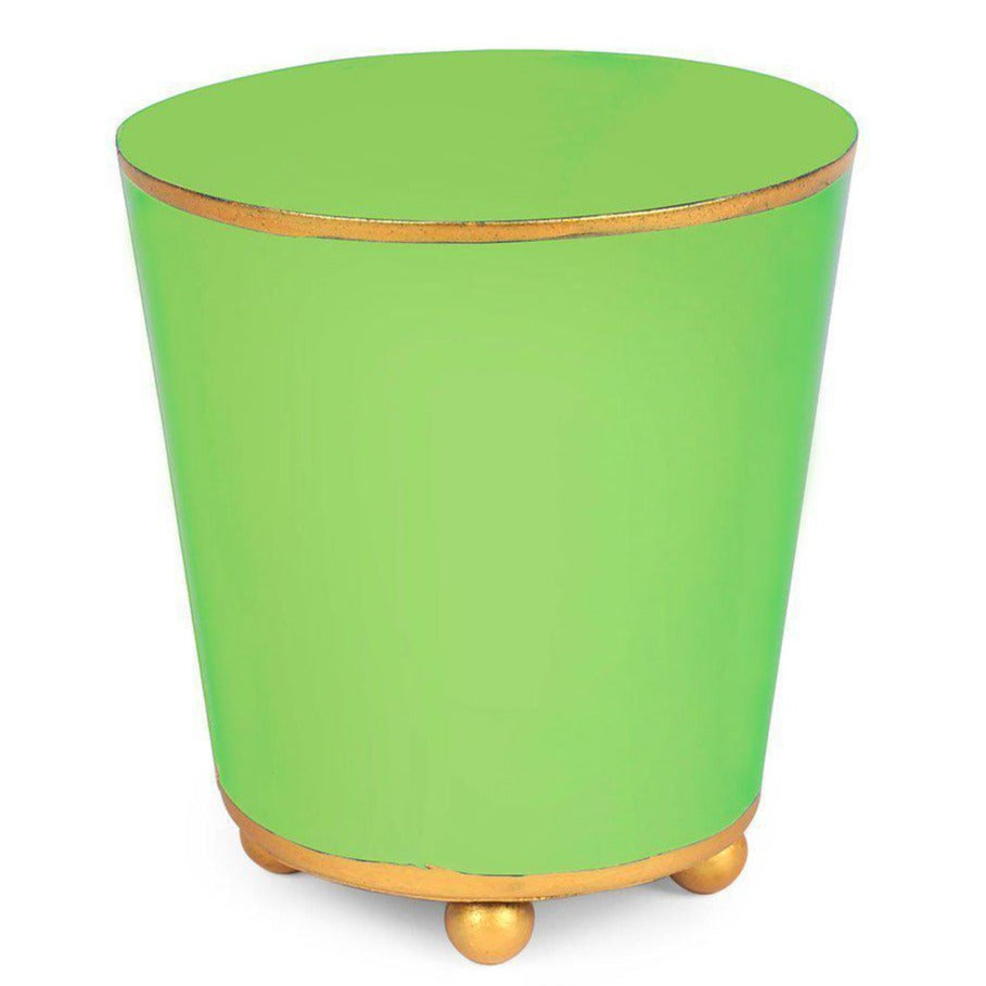 "Lime 6"" Round Cachepot Monogramed - The Preppy Bunny"