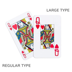 Pagoda Toile Large Type Bridge Gift Set - 2 Playing Card Decks & 2 Score Pads