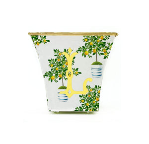 Lemon Tree Cachepot Candle with Monogram - The Preppy Bunny