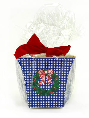 Gingham Wreath Cachepot Candle - The Preppy Bunny