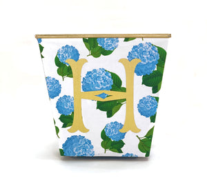 Hydrangeas Cachepot Candle with Monogram - The Preppy Bunny