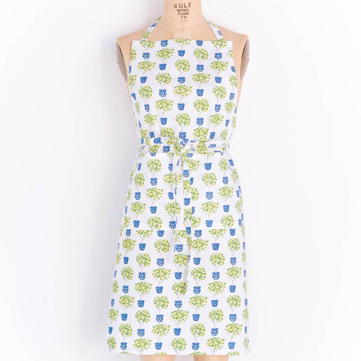Lemon Topiary Apron - The Preppy Bunny