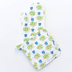 Lemon Topiary Oven Mitt and Potholder Set - The Preppy Bunny