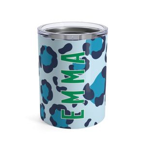 Small Spots Blue Tumbler - The Preppy Bunny