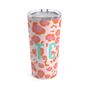 Large Spots Pink Tumbler - The Preppy Bunny