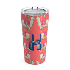 Large Llama Coral Tumbler - The Preppy Bunny