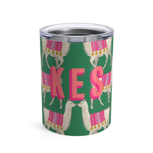 Small Llama Green Tumbler - The Preppy Bunny