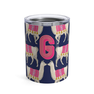 Small Llama Navy Tumbler - The Preppy Bunny