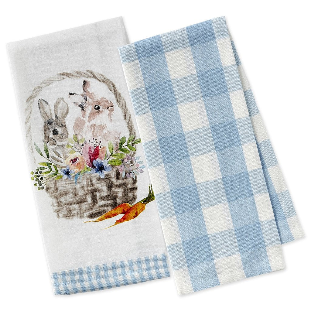 Easter Basket Dishtowel Set - The Preppy Bunny