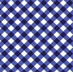 Navy Blue Gingham Check Wrapping Paper - The Preppy Bunny