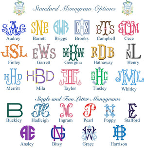 Nautical Stripe Monogrammed Napkin - The Preppy Bunny