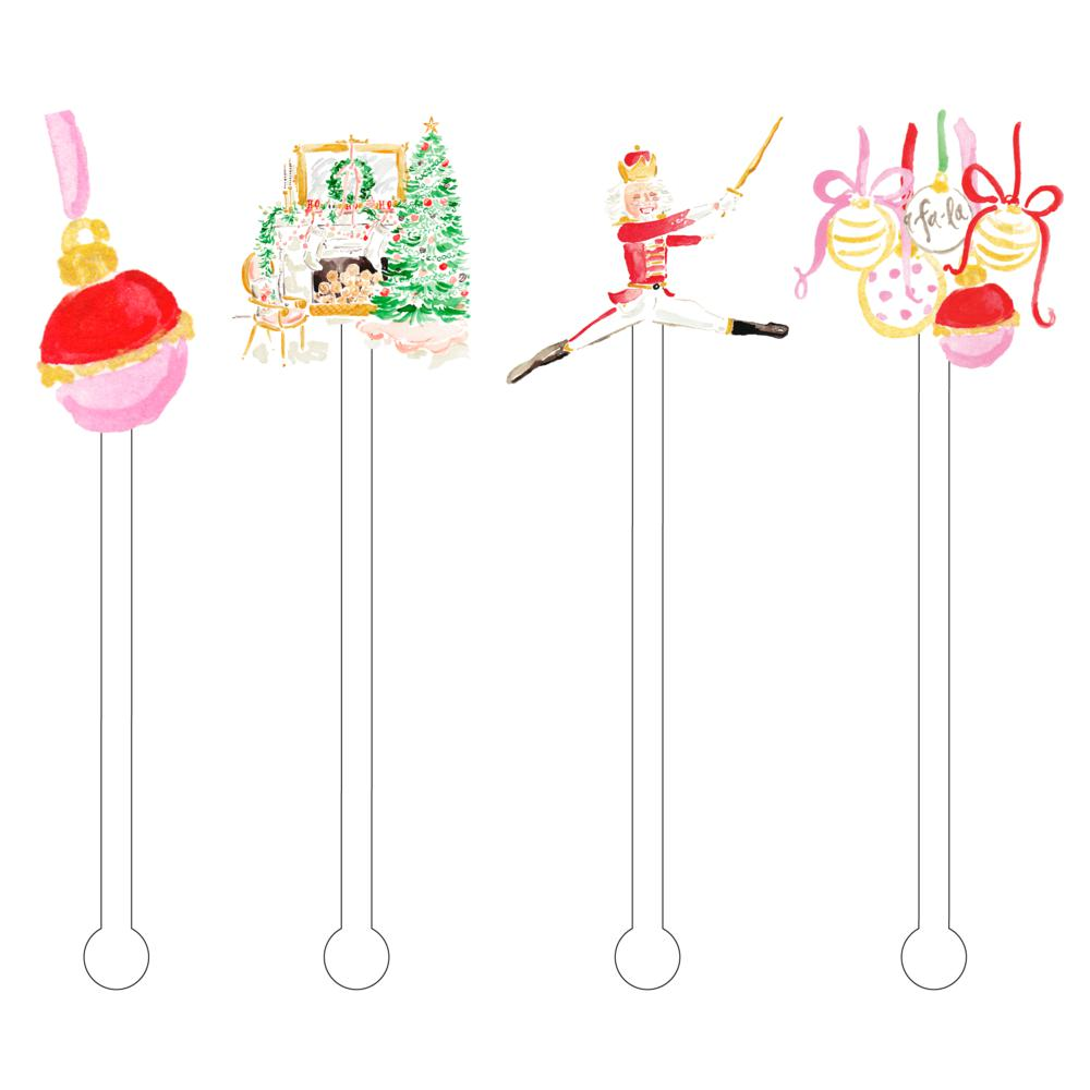 Nutcracker Christmas Acrylic Stir Sticks - The Preppy Bunny
