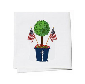 Patriotic Topiary Cocktail Napkins Set of 4 - The Preppy Bunny