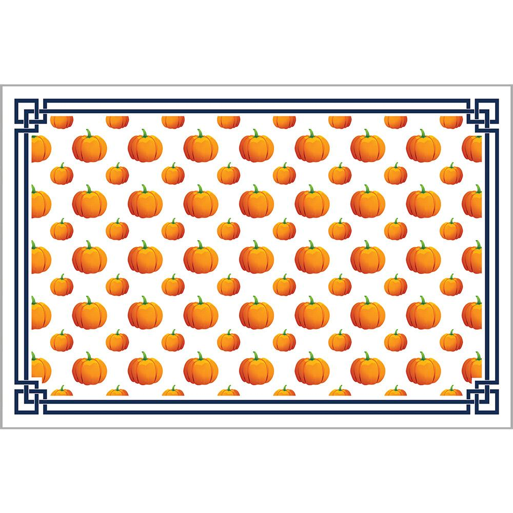 Pumpkin Fretwork Paper Placemats - The Preppy Bunny