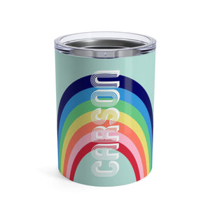Small Rainbow Blue Tumbler - The Preppy Bunny