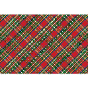 Red Tartan Paper Placemats Set of 25 - The Preppy Bunny