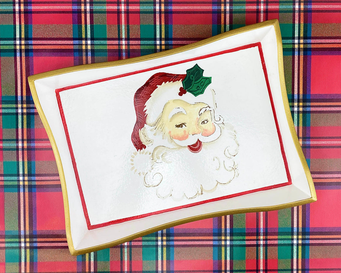 Santa Wooden Tray - The Preppy Bunny