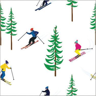 Ski Resort Winter Wrapping Paper - The Preppy Bunny