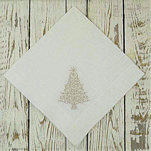 Sparkle Christmas Tree Linen Napkins Set of 4 - The Preppy Bunny