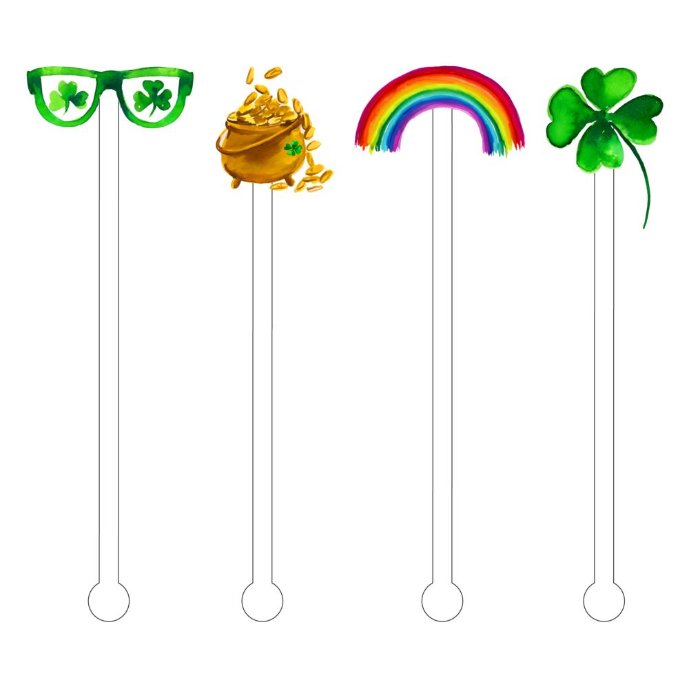 Feeling Lucky Combo Acrylic Stir Sticks - The Preppy Bunny