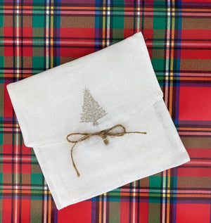 Sparkle Tree Linen Cocktail Napkin Set - The Preppy Bunny