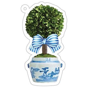 Striped Topiary Tree Gift Tags - The Preppy Bunny