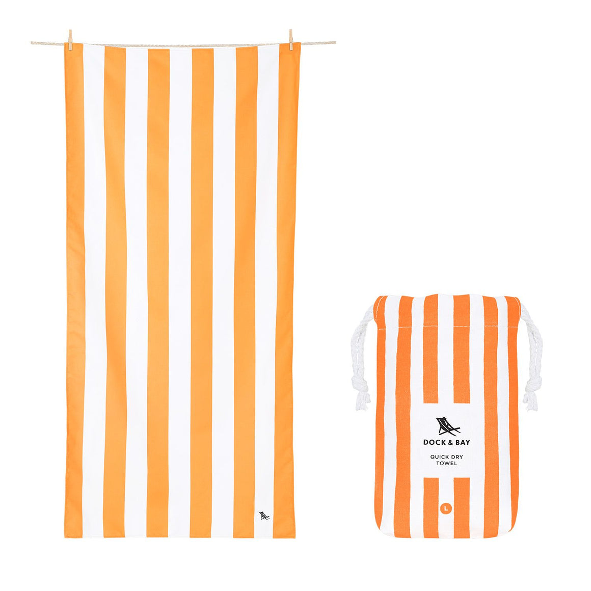 Cabana Stripe Ipanema Orange Beach Towel with Monogram - The Preppy Bunny