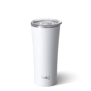 Swig Matte White 22 oz. Tumbler - The Preppy Bunny