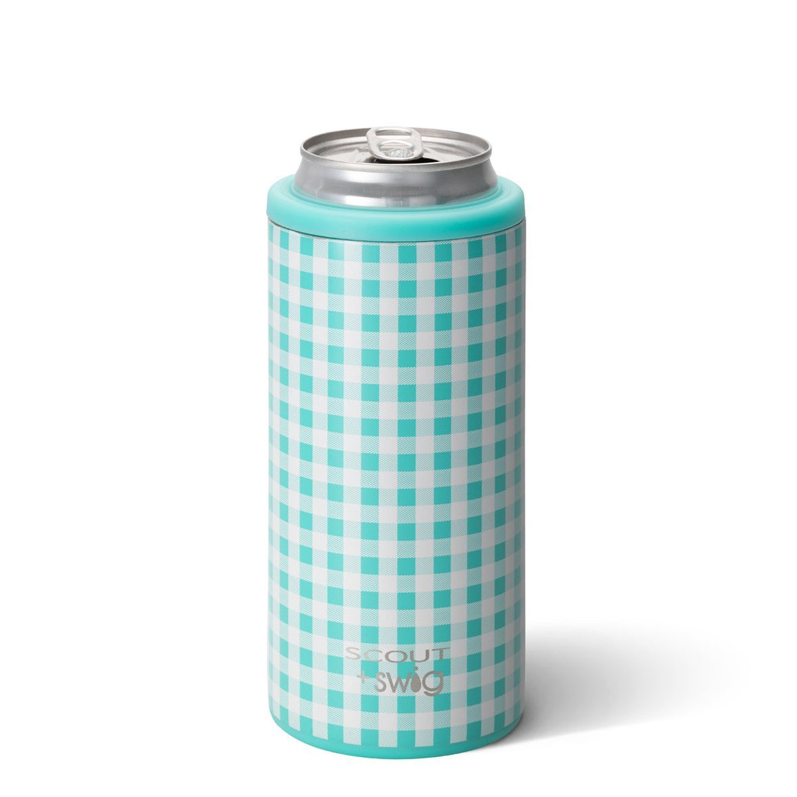 SCOUT + Swig Barnaby Checkham Skinny Can Cooler (12oz) - The Preppy Bunny