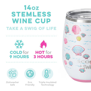 SCOUT + Swig Let's Shellabrate Stemless Wine Cup (14oz) - The Preppy Bunny