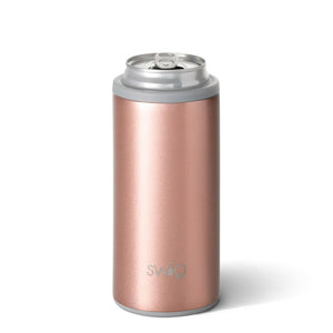Swig Life 12oz Skinny Can Cooler Rose Gold - The Preppy Bunny