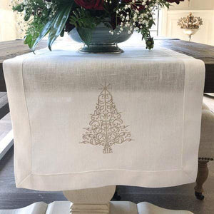 Sparkle Tree Linen Table Runner - The Preppy Bunny