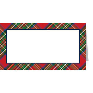 Red Tartan Fold Over Place Cards - The Preppy Bunny