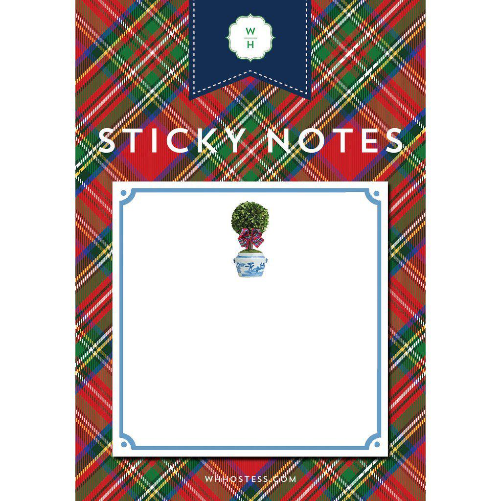 Tartan Topiary Sticky Notes - The Preppy Bunny
