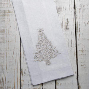Sparkle Christmas Tree Linen Towel - The Preppy Bunny