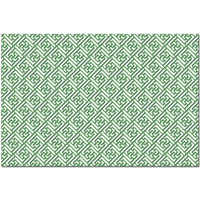 Green Trellis Fretwork Paper Placemats - The Preppy Bunny