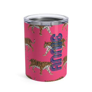 Small Tiger Pink Tumbler - The Preppy Bunny