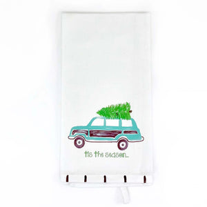 Christmas Wagoneer Kitchen Towel - The Preppy Bunny