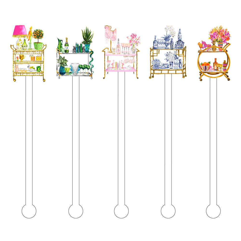 Boujie Chi Chi Bar Cart Acrylic Stir Sticks - The Preppy Bunny