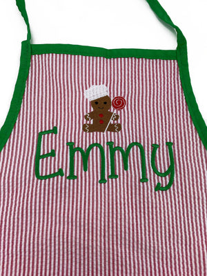Kids Art Smock/Apron Christmas - The Preppy Bunny