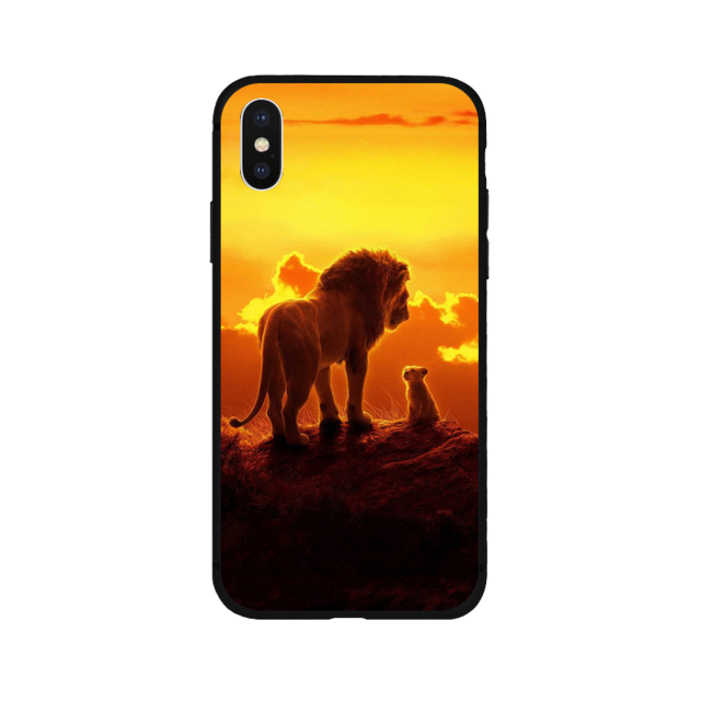 Lion King soft Silicone black cover phone case  For iPhone