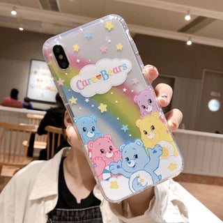 Cute Anime candy rainbow phone case For Apple iphone