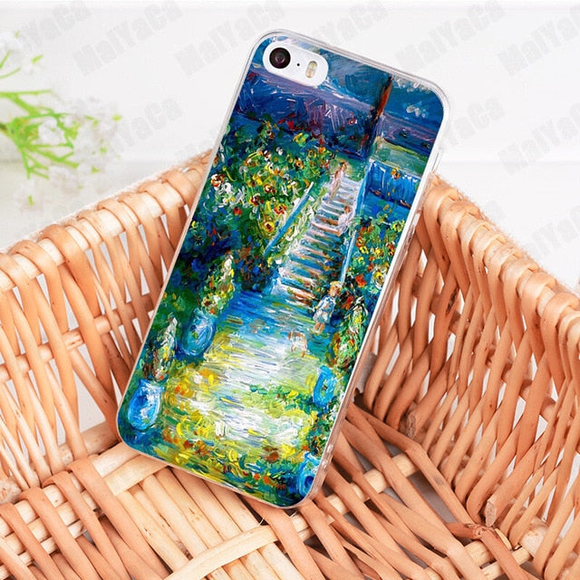 Claude Monet Impressionism Painter Transparent Cover Case for iPhone
