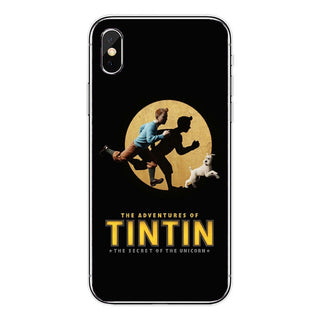 The Adventures of Tintin Soft Silicone TPU Cover Case For iPhone
