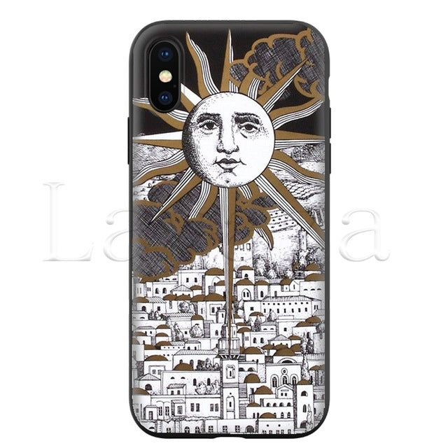 Piero Fornasetti Silicone Soft Case for iPhone
