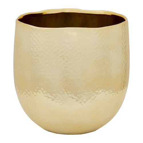 Nura Ceramic Gold Planter