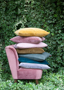 Cozy Living Soft Velvet Cushion MOSS